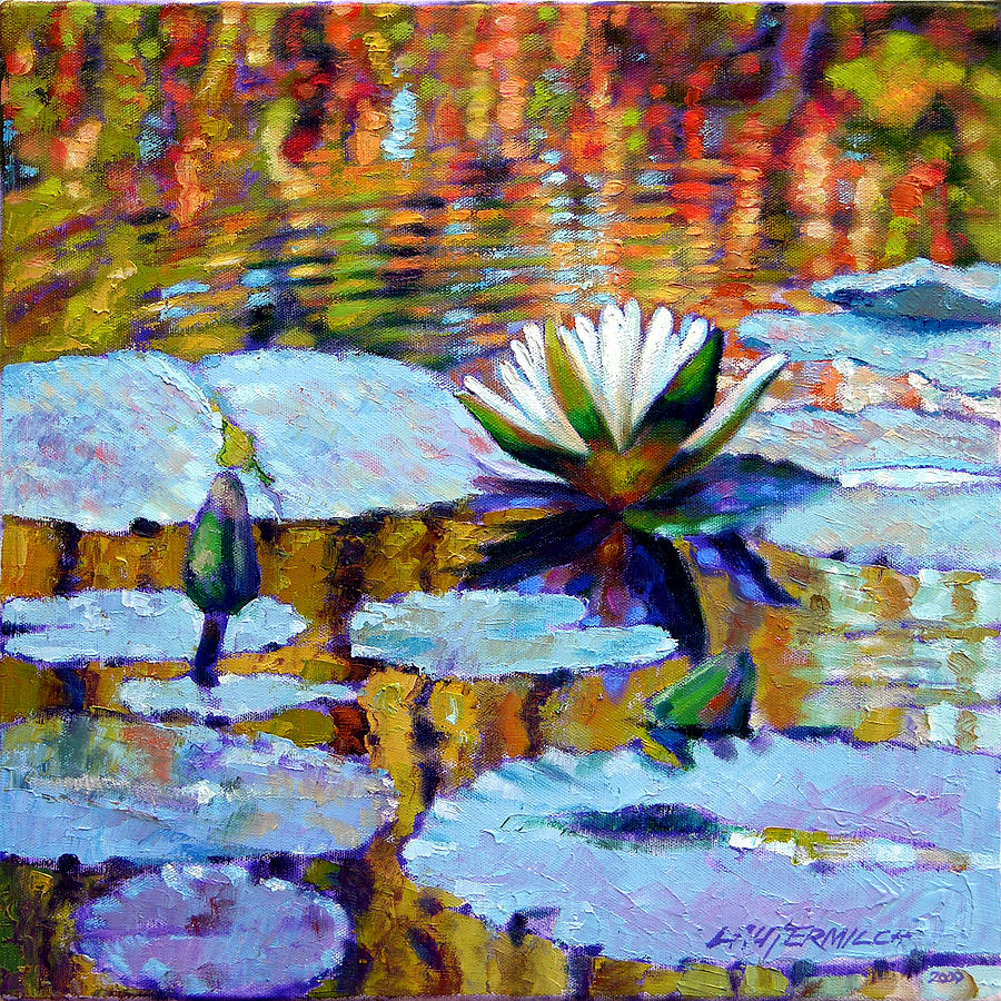 Fall Painting - Fall Ripples by John Lautermilch