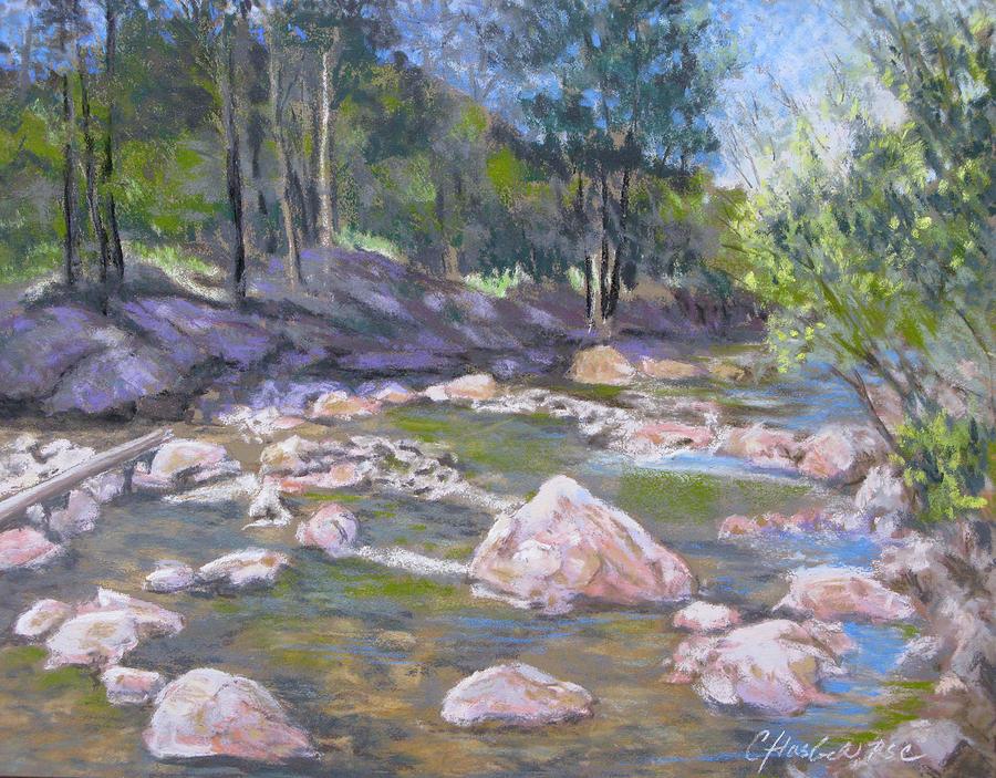Landscape Pastel - Fall River Trilogy 2 by Carole Haslock