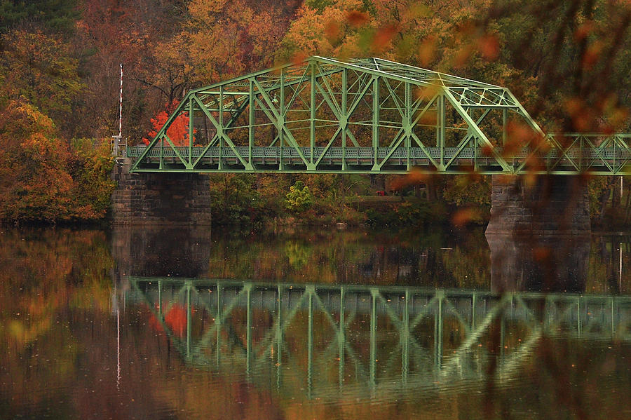 Fall Rocks Village Bridge by Nancy Landry