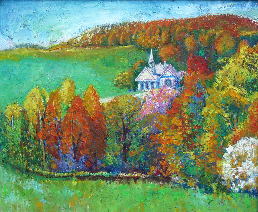 Fall Painting - Fall Scene by Meihua Lu