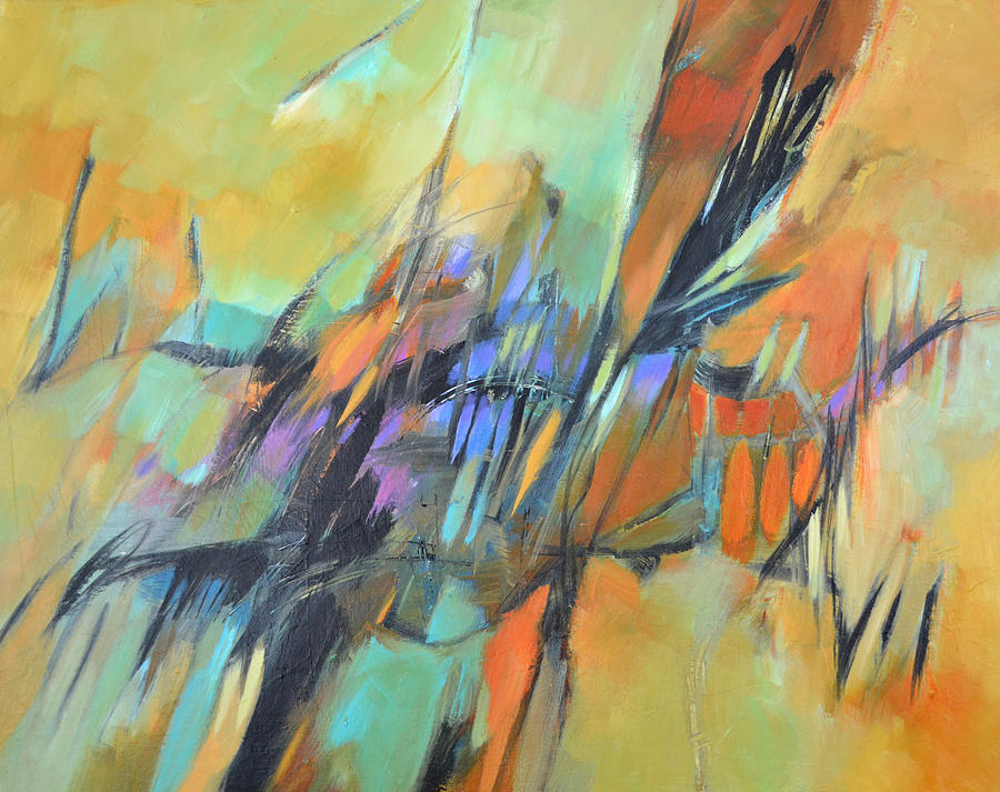Abstract Painting - Fall Shadows by Filomena Booth
