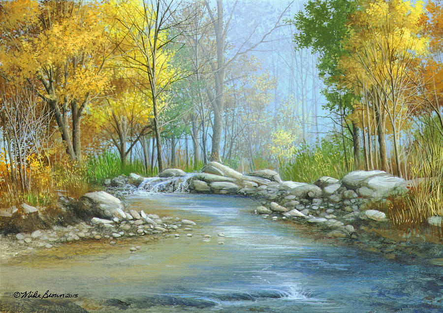 Fall Painting - Fall Solitude by Mike Brown