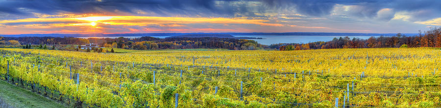 Traverse Photograph - Fall Sunset On Old Mission by Twenty Two North Photography