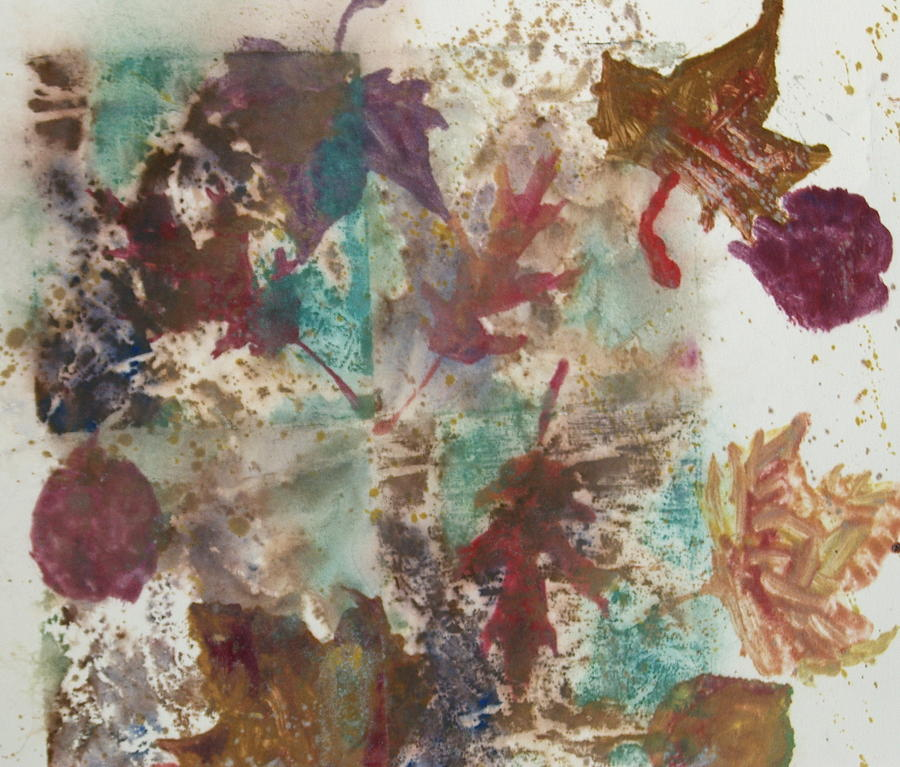 Autumn Leaves Painting - Fall Treasures by Claudia Smaletz