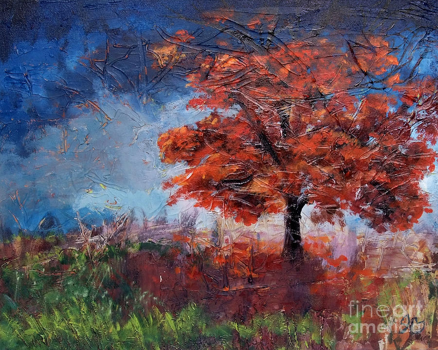Fall Painting - Fall Tree by Jamie Hartley