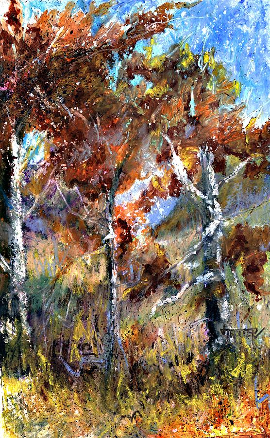 Autumn Painting - Fall Trees by Jimmie Trotter