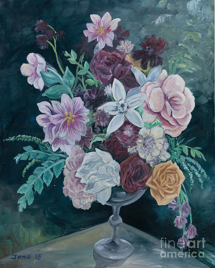 Flowers Painting - Fall Vase by Jana Goode