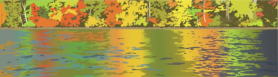 Autumn Painting - Fall Water Colors by Marian Federspiel