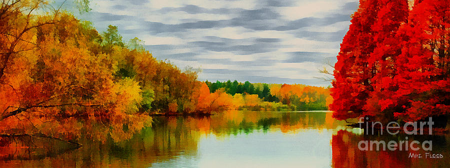 Fall Water Painterly rendering by Michael Flood