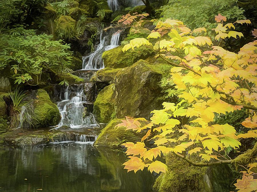 Fall Waterfall Photograph