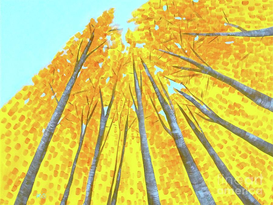 Trees Painting - Fall by Wonju Hulse
