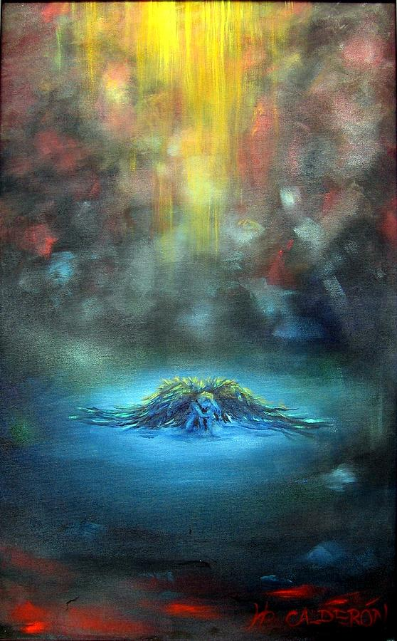 Angels Painting - Fallen Angel by Heather Calderon