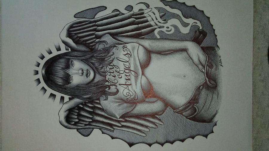 Fallen angel drawing by jonathan sihr thecheapjerseys Gallery