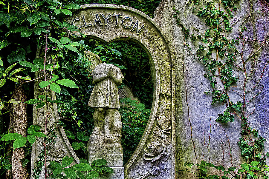 Abney Park Photograph - Fallen Angel by Oliver Kluwe