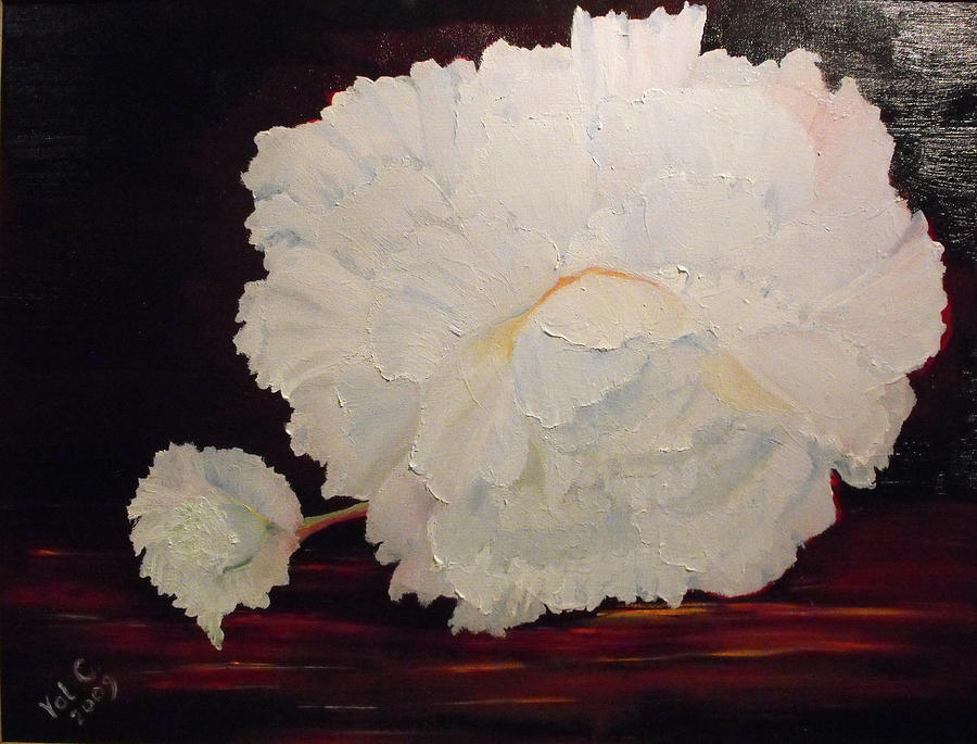 Begonia Painting - Fallen Begonia by Valerie Curtiss