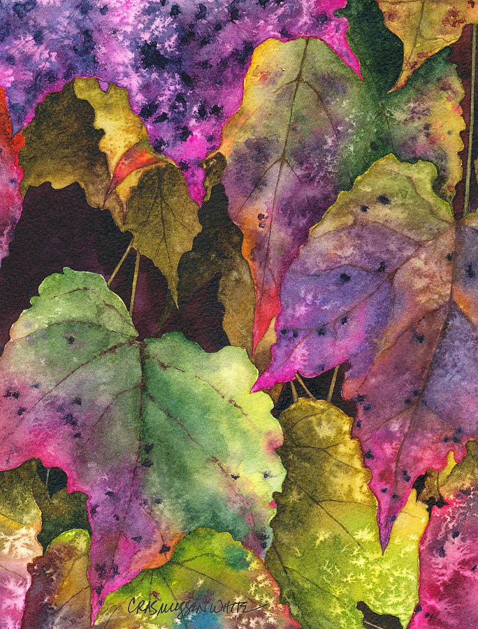 Watercolor Painting - Fallen by Casey Rasmussen White