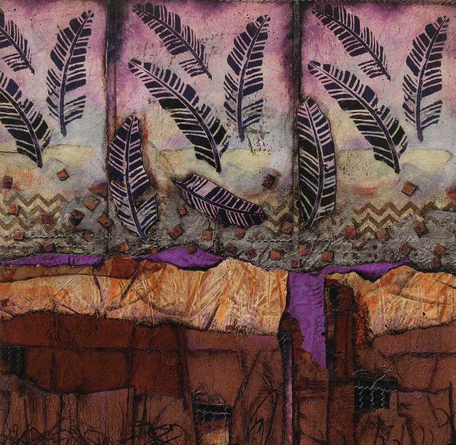 Collage Mixed Media - Fallen Feathers  by Laura Lein-Svencner