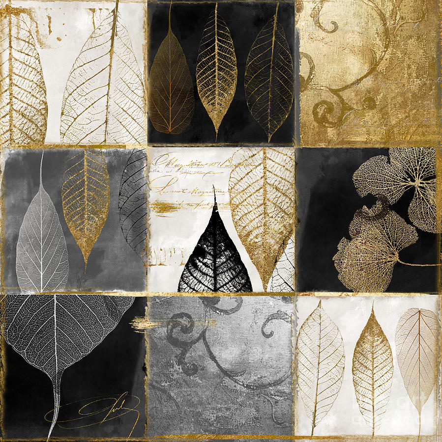 Leaf Painting - Fallen Gold Autumn Leaves by Mindy Sommers