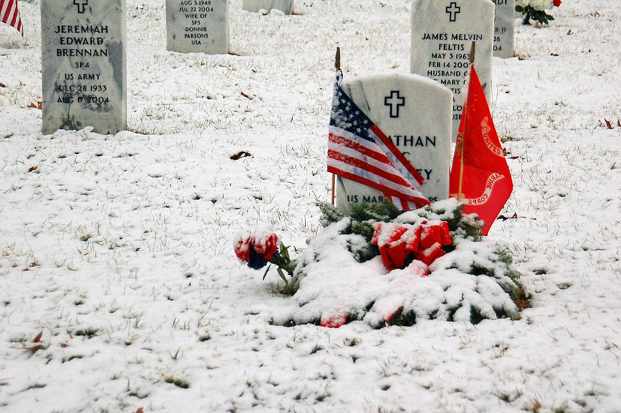 Flag Photograph - Fallen Heroes by Suzanne Gaff