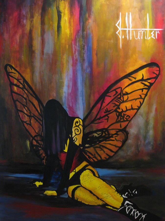 Fairy Painting - Fallen by Jeff Hunter