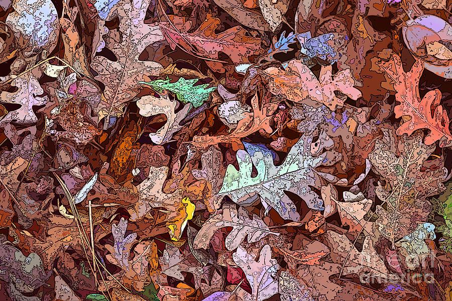 Autumn Digital Art - Fallen Leaves by Anthony Forster