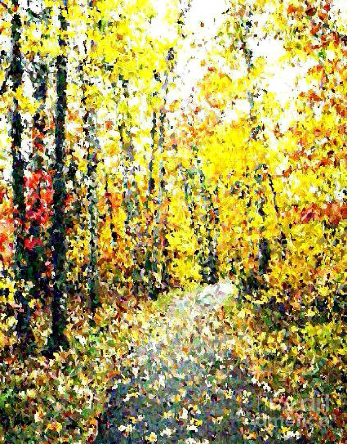 Landscape Painting - Fallen Leaves Of Autumn by Don Phillips