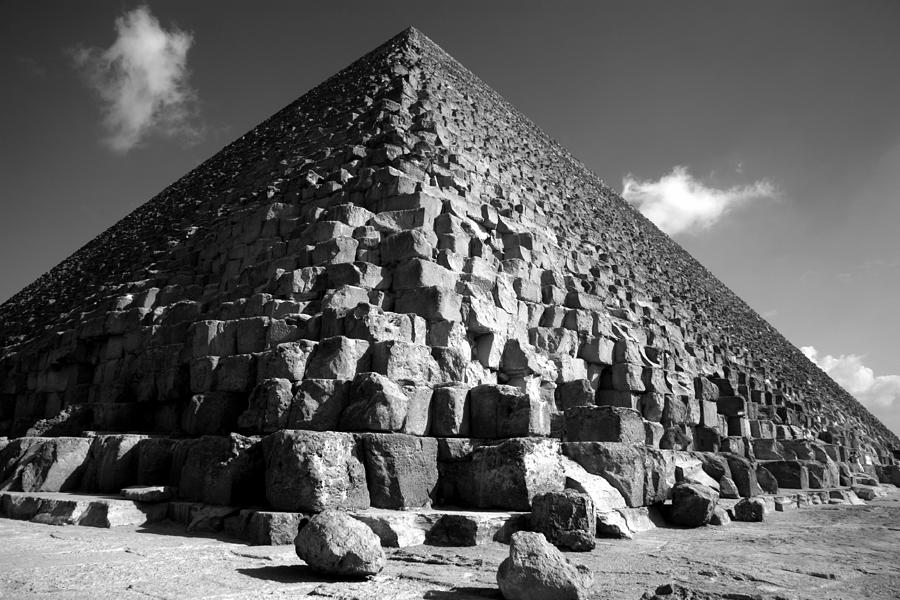 Pyramid Photograph - Fallen Stones At The Pyramid by Donna Corless