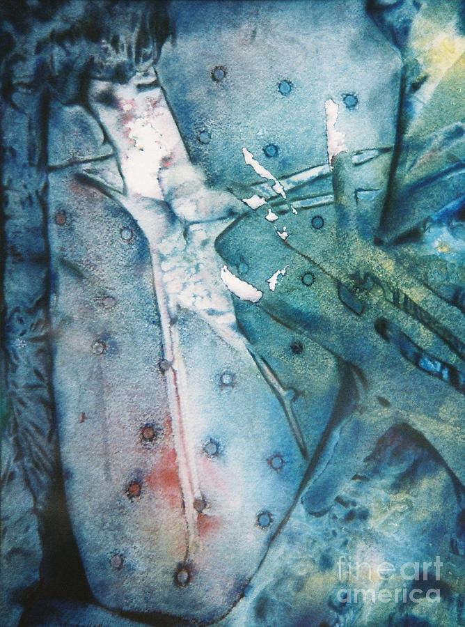 Abstract Mixed Media - Falling Apart by Shirley McMahon