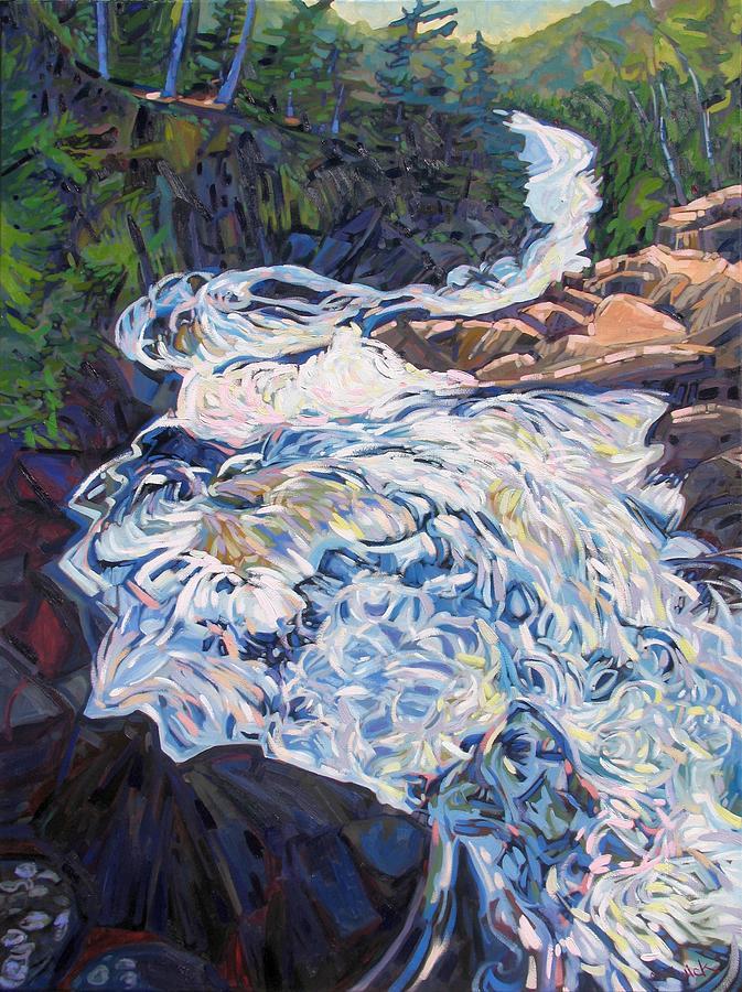 Ragged Painting - Falling Down Ragged by Phil Chadwick