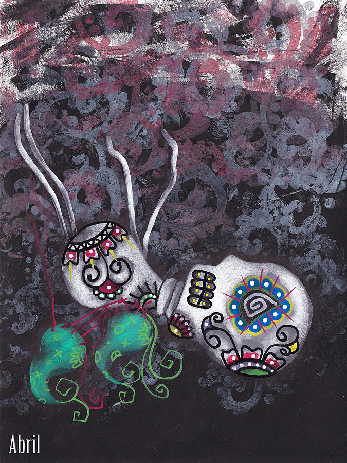 Day Of The Dead Painting - Falling From Grace by  Abril Andrade Griffith