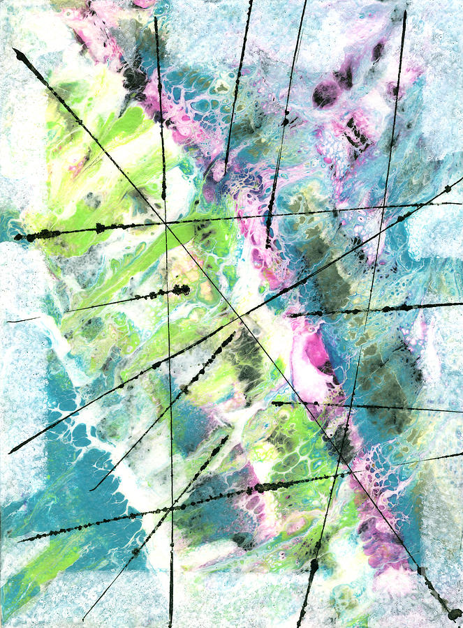 Mixed Media Mixed Media - Falling Further In by Cyndi Lavin