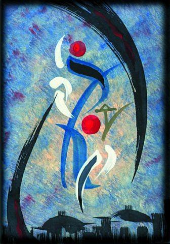Love Painting - Falling In Love by Marwan Al-Allan
