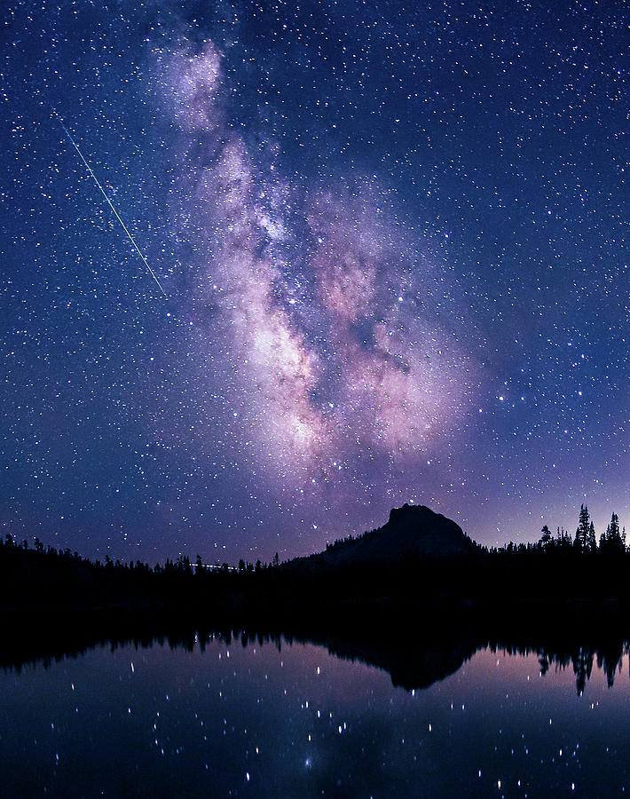 California Photograph - Falling Star Over The Sierras by Shaun Astor