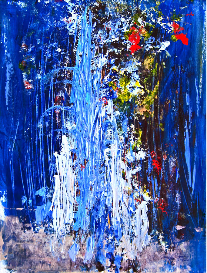 Water Painting - Falling Water by Penfield Hondros