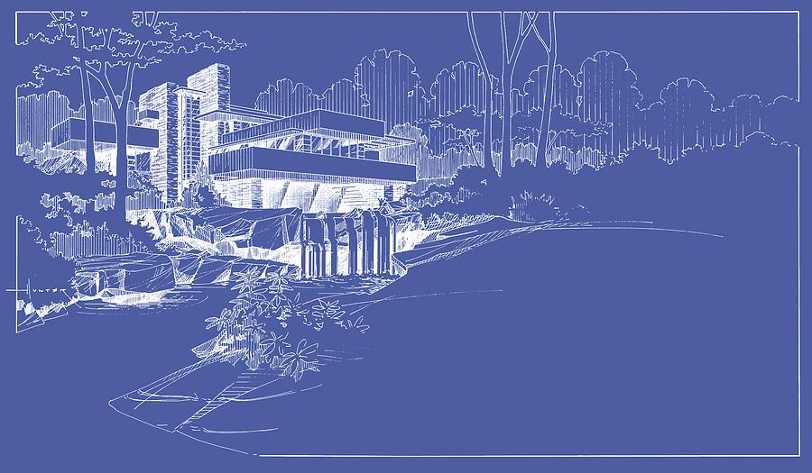 Falling Water Blueprints | www.pixshark.com - Images ...