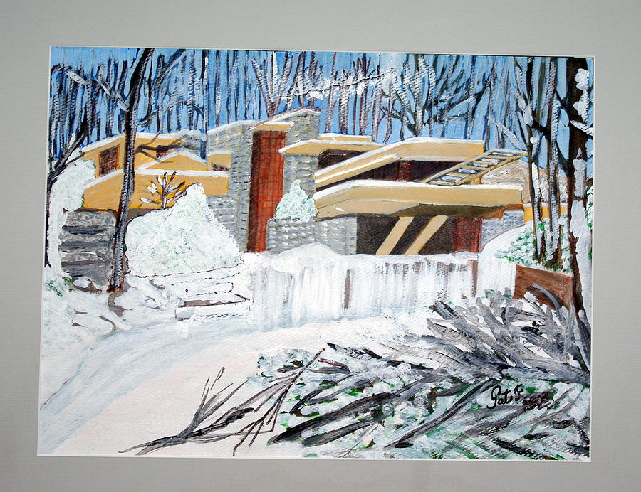 Fallingwater Painting by Patricia Fragola