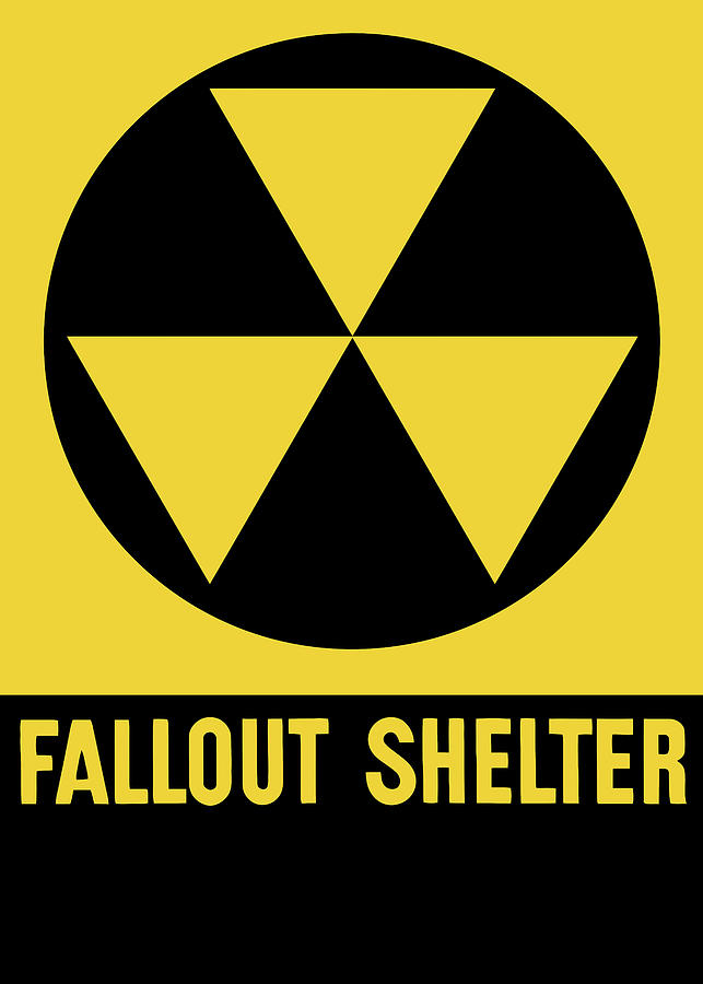 Fallout Shelter Mixed Media - Fallout Shelter Sign by War Is Hell Store