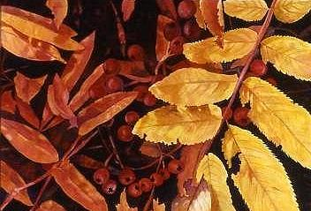 Leaves Painting - Falls Colors by Wendy Hill