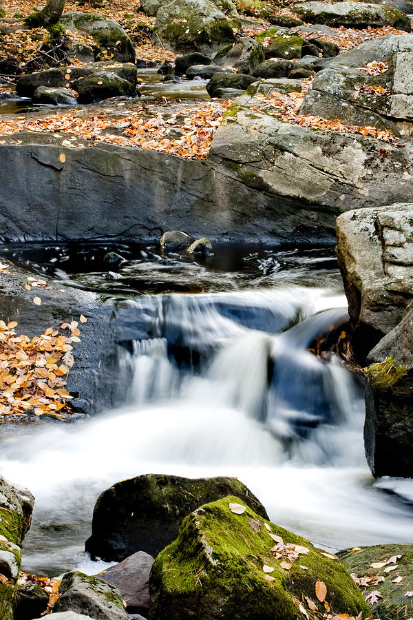 Water Photograph - Falls In Fall by Greg Fortier