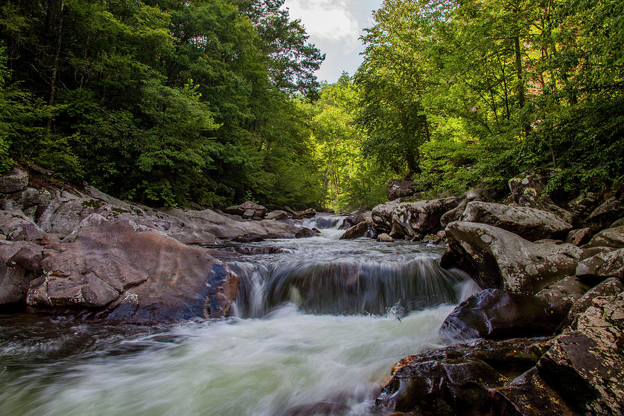 Falls Photograph - Falls In The Mountains by Anthony Cooper