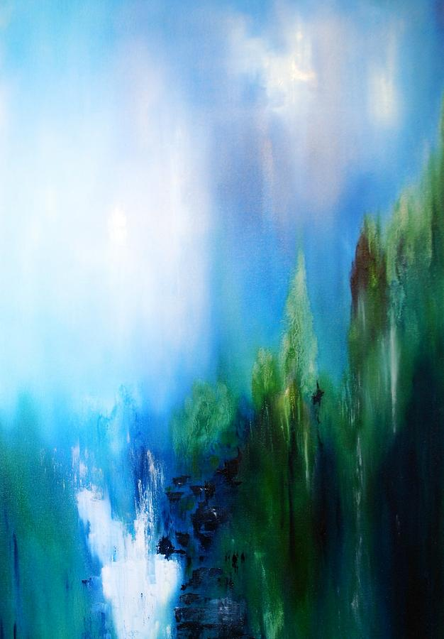 Abstract Painting - Falls by Larry Ney  II