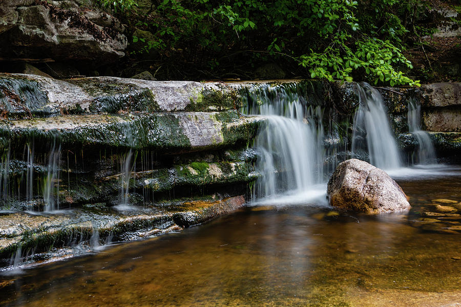 Long Exposure Photograph - Falls Of Peterskill In Spring I - 2018 by Jeff Severson