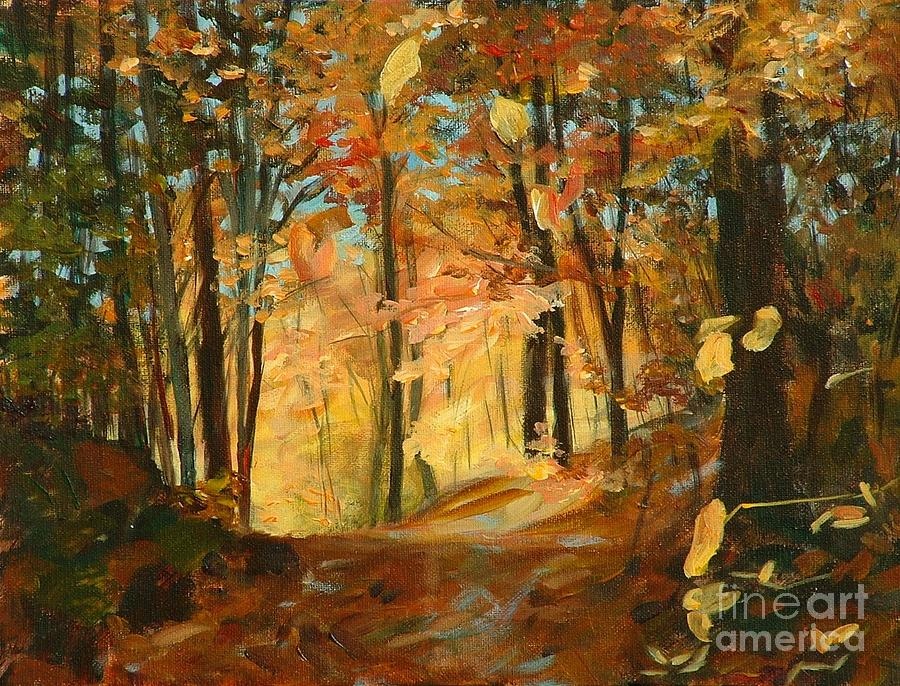 Painting Painting - Falls Radiance In Quebec by Claire Gagnon