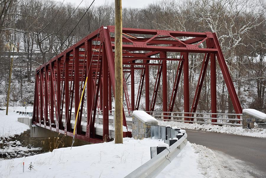 Winter Photograph - Falls Village Bridge 1 by Nina Kindred