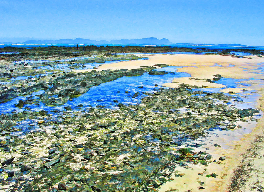 Sea Digital Art - False Bay Low Tide by Jan Hattingh