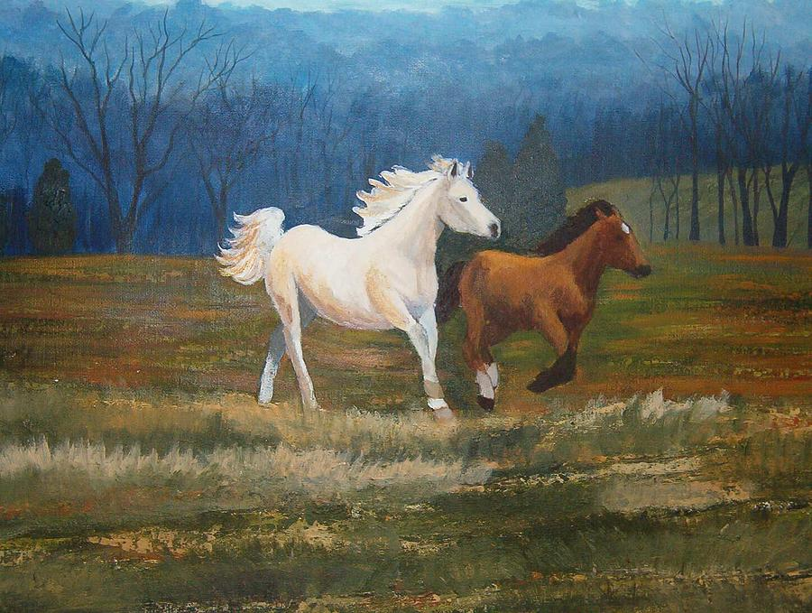 Fame And Nevada Painting by Tami Booher