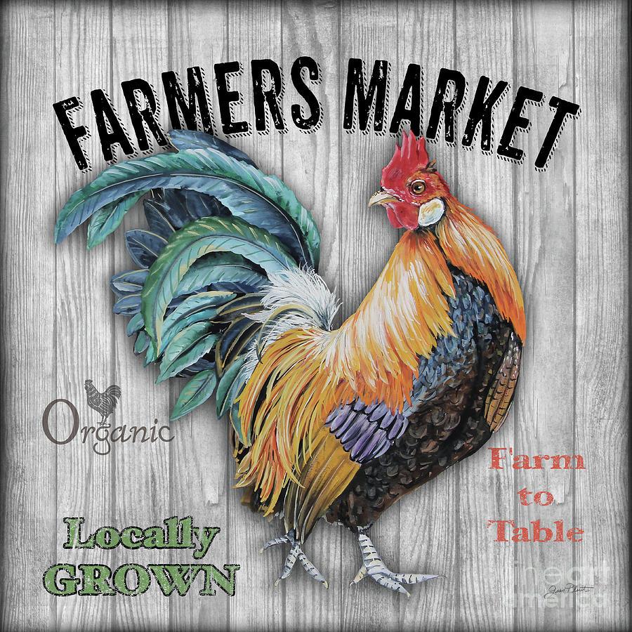 Door Mixed Media - Farmers Market 1 by Jean Plout
