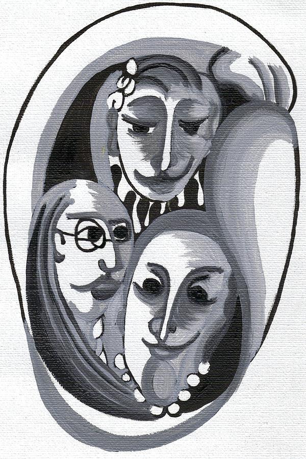 Familia Feliz Painting by Maria do carmo Cid peixeiro