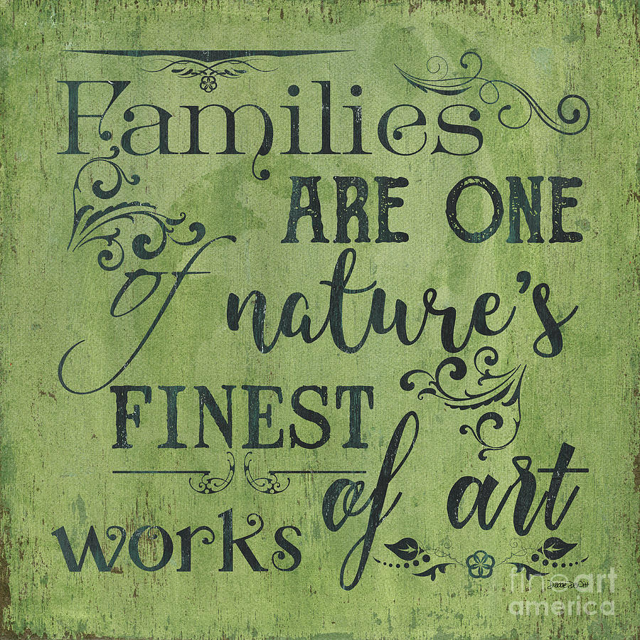 Family Painting - Families Are... by Debbie DeWitt