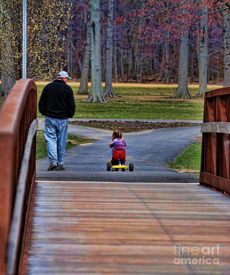 Paul Ward Photograph - Family - A Fathers Love by Paul Ward